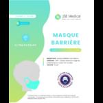 Masque Barrière Non Médical Enfant (4/10 Ans) Blancs B/6 à Paris
