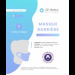 Masque Barrière Non Médical Adulte Blancs B/6 à Paris